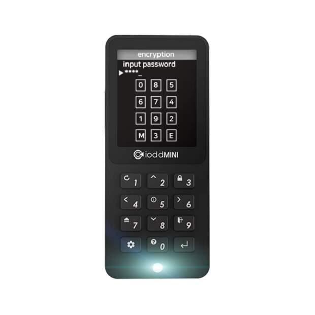 IODD SSD-Laufwerk mit Mini-USB 3.0 mit sicherer 256-Bit-Verschlüsselung
